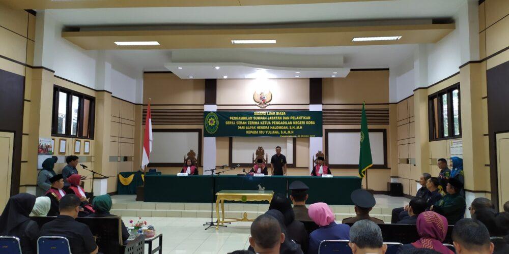 Sidang Luar Biasa Pengambilan Sumpah Jabatan Dan Pelantikan Serta Serah Terima Ketua Pengadilan Negeri Koba