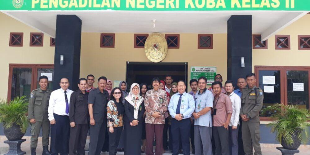 Kunjungan Direktur Pembinaan Tenaga Teknis Badan Peradilan Umum MA RI Ke PN Koba