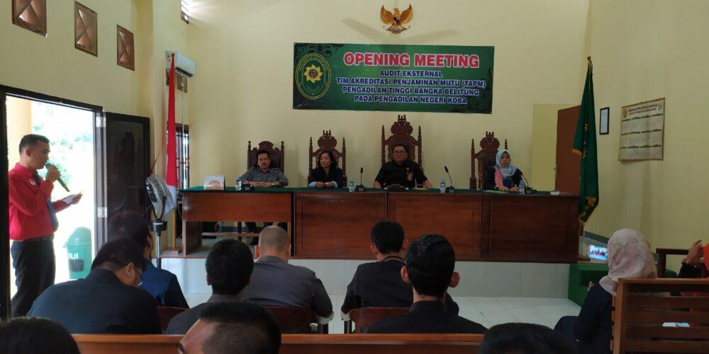 Audit Eksternal Tim Akreditasi Penjaminan Mutu (TAPM)  PT. Bangka Belitung Pada PN. Koba
