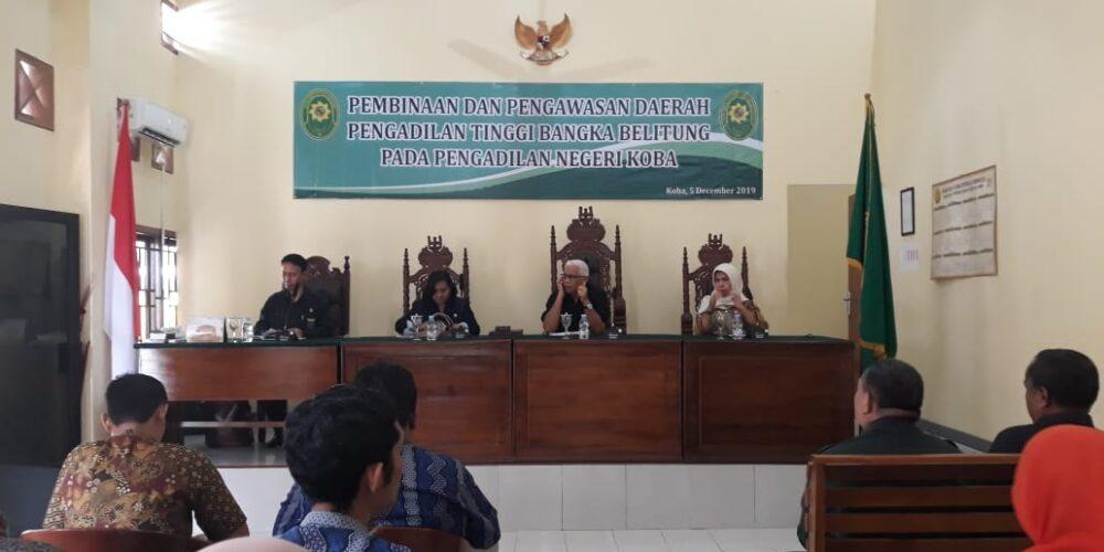 Pembinaan Dan Pengawasan Daerah Pengadilan Tinggi Bangka Belitung Pada Pengadilan Negeri Koba