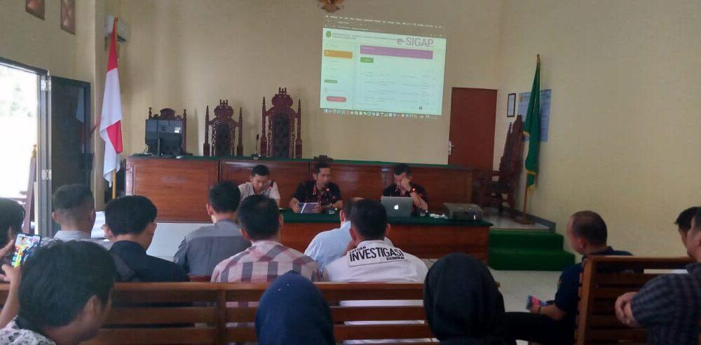 Launching Aplikasi E-SIGAP Pada Pengadilan Negeri Koba