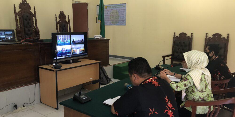 Teleconference Dalam Rangka Monev Secara Elektronik Oleh Pengadilan Tinggi Bangka Belitung