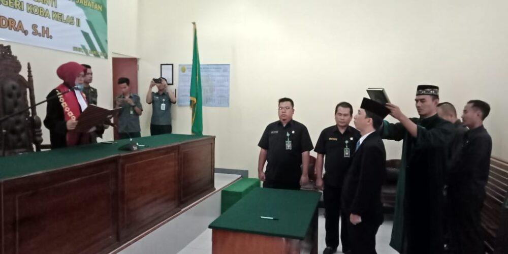 Pelantikan Dan Pengambilan Sumpah Jabatan Panitera Pengganti Pengadilan Negeri Koba