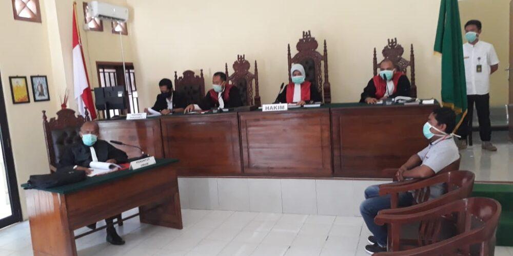 Darurat Corona (Covid-19) Pengadilan Negeri Koba Gelar Sidang Telekonferensi