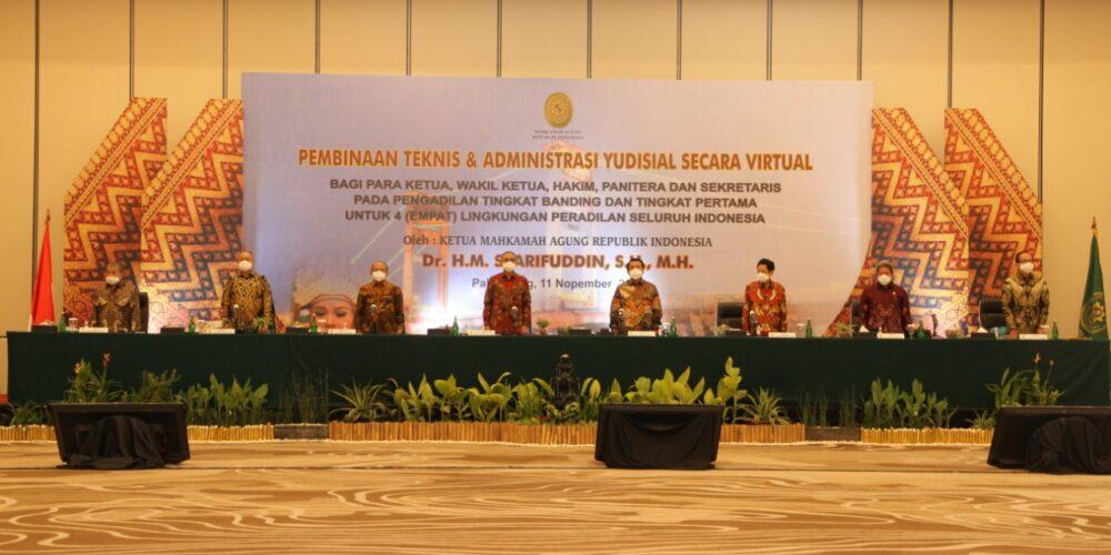 PEMBINAAN TEKNIS DAN ADMINISTRASI YUDISIAL SECARA VIRTUAL UNTUK EMPAT LINGKUNGAN PERADILAN SELURUH INDONESIA