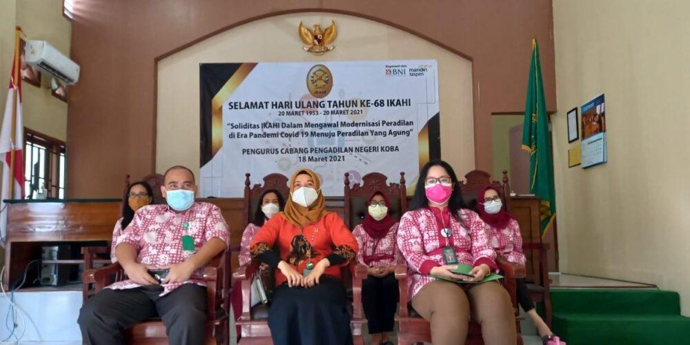 Rangkaian Kegiatan Pengurus Cabang IKAHI Pengadilan Negeri Koba Dalam Rangka Memperingati HUT IKAHI Ke-68