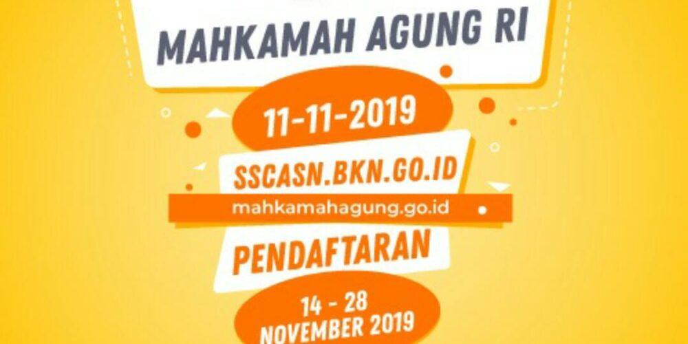 PELAKSANAAN SELEKSI CPNS MAHKAMAH AGUNG RI TAHUN ANGGARAN 2021