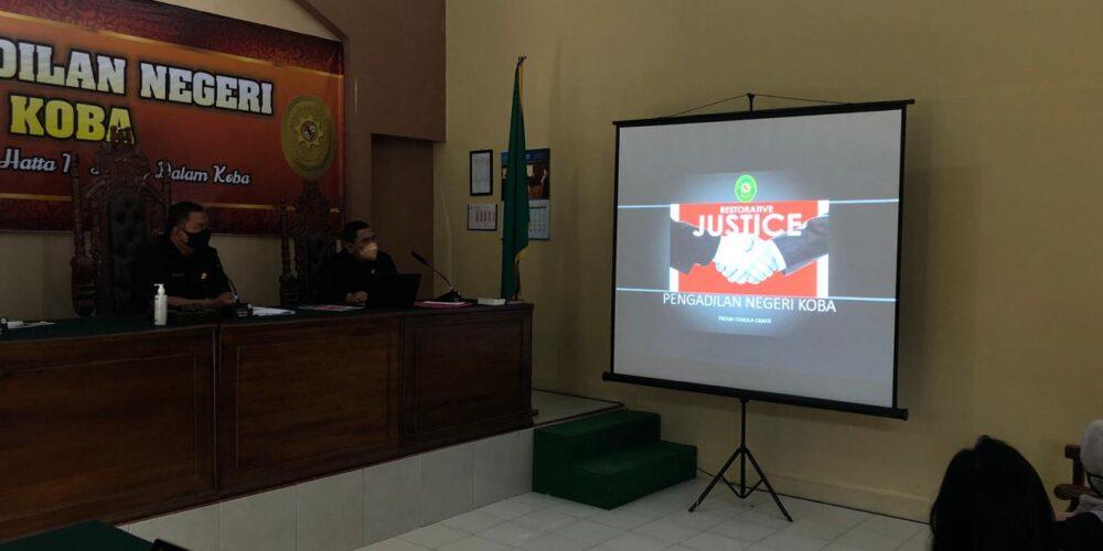 SOSIALISASI RESTORATIVE JUSTICE PADA PENGADILAN NEGERI KOBA
